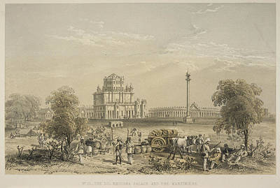 The Dil Khoosha Palace And The Martiniere Print by British Library