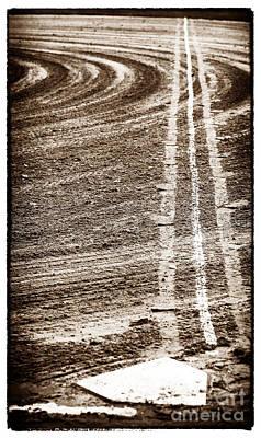 Baseball Art Photograph - The Dirt Field by John Rizzuto