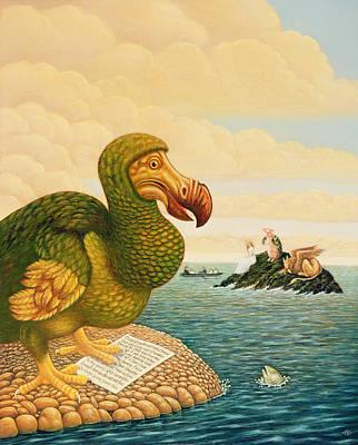 Alice Wonderland Wonderland Painting - The Dodo, 1993 by Frances Broomfield
