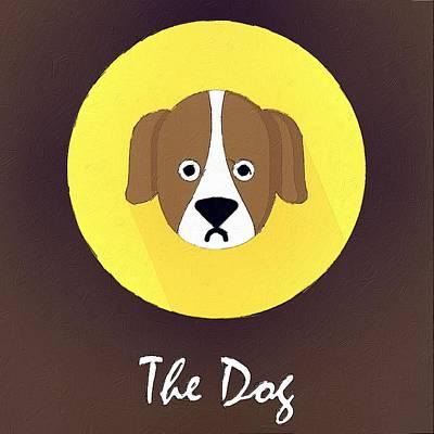 Puppies Digital Art - The Dog Cute Portrait by Florian Rodarte