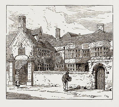 Dolphin Drawing - The Dolphin Inn, Heigham by Litz Collection