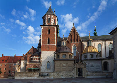 Krakow Photograph - The Domes Above The Sigismund Chapel by Panoramic Images