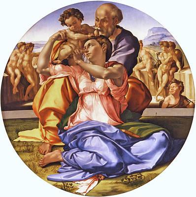 The Doni Tondo Print by Michelangelo di Lodovico Buonarroti Simoni