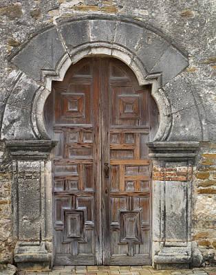 The Door Of Espada Mission  Print by David and Carol Kelly