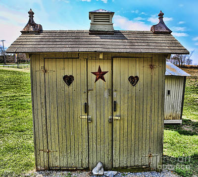 Antique Outhouse Photograph - The Double Love Boat Outhouse by Lee Dos Santos