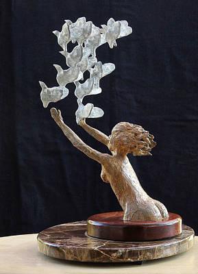 The Dove Maiden Print by Dan Redmon