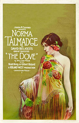 The Dove, Norma Talmadge On Window Print by Everett
