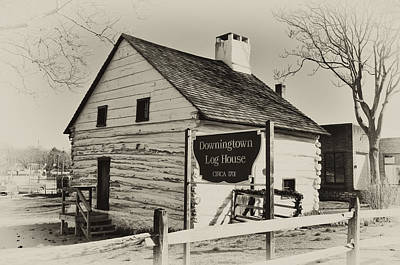The Downingtown Log House  Print by Bill Cannon