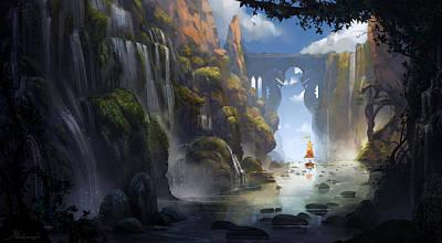 Animation Painting - The Dragon Land by Kristina Vardazaryan