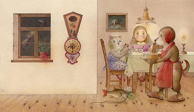 The Dream Cat 20 Print by Kestutis Kasparavicius
