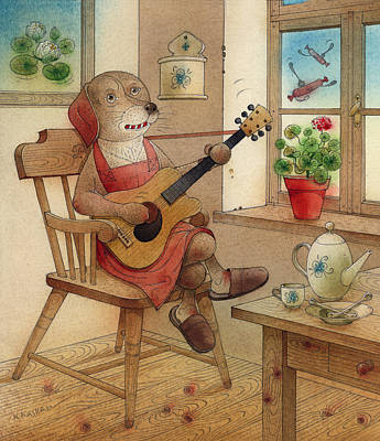 Breakfast Drawing - The Dream Cat 22 by Kestutis Kasparavicius