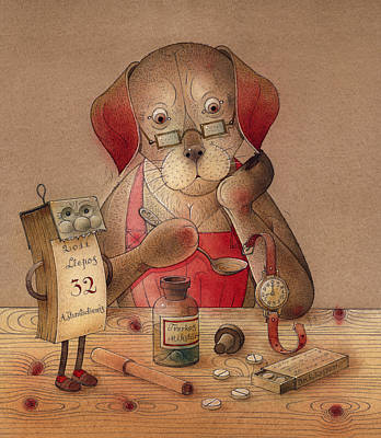 Dogs Drawing - The Dream Cat 25 by Kestutis Kasparavicius