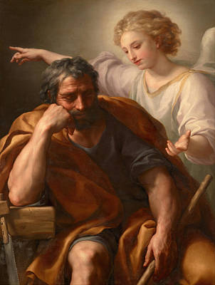 Anton Raphael Mengs Painting - The Dream Of St Joseph by Anton Raphael Mengs