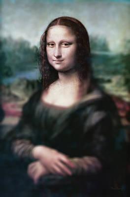 Restore Painting - The Dream Of The Mona Lisa by David Bridburg