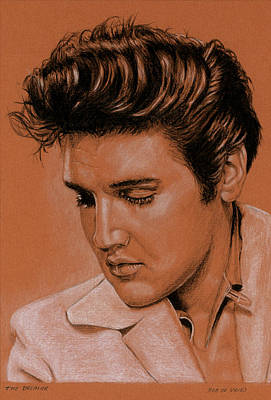 Elvis Presley Drawing - The Dreamer by Rob De Vries