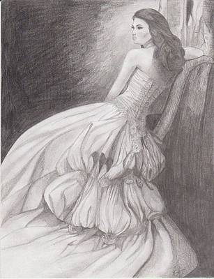Wedding Dress Drawing - The Dress by Laura Allen