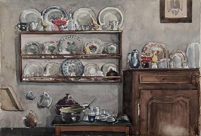 Interior Still Life Painting - The Dresser  by Henri Duhem