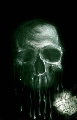 Dark Evil Scary Drawing - The Dripper by Daniel Allen