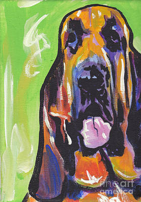 The Droopy Bloodhound Print by Lea S