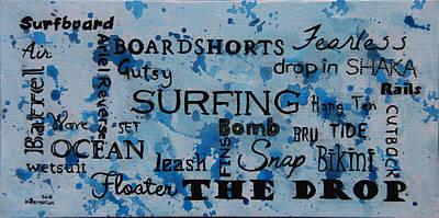 Reverse Painting - The Drop by Kayleigh Semeniuk
