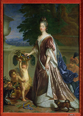 The Duchess Of Maine 1676-1753 Oil On Canvas Print by Francois de Troy