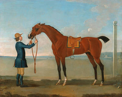 The Duke Of Devonshires Flying Childers Print by James Seymour