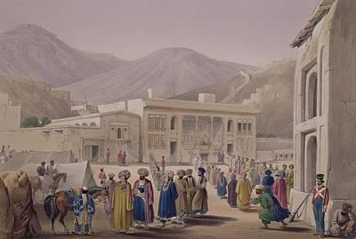 Mountain Drawing - The Durbar-khaneh Of Shah by James Atkinson