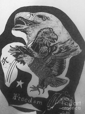 Indian Ink Mixed Media - The Eagle Of Freedom by Franky A HICKS