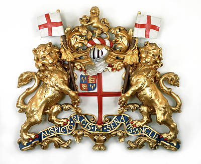 East India Photograph - The East India Company Coat Of Arms by British Library