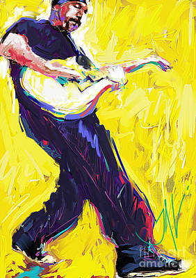 Bono Digital Art - The Edge by John Lowther