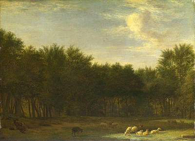 Adriaen Van De Velde Painting - The Edge Of A Wood by Adriaen van de Velde