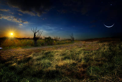 The Edge Of Night Print by Mark Andrew Thomas