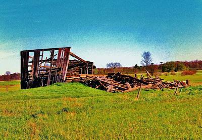 Barn Photograph - The Effects Of Time by Daniel Thompson
