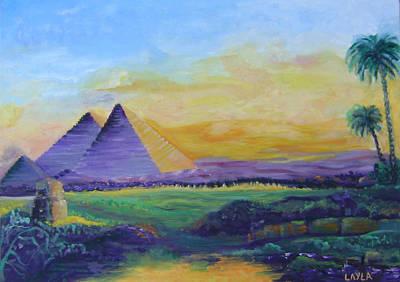 The Egyptian Pyramids Original by Layla Munla
