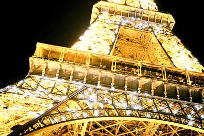 The Eiffel Tower At Night Print by Raimond Klavins