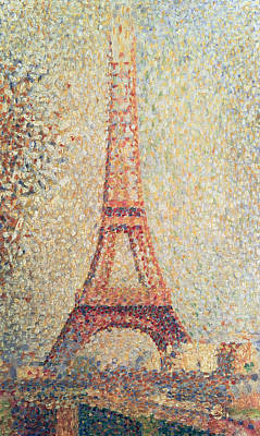 Blurred Painting - The Eiffel Tower by Georges Pierre Seurat