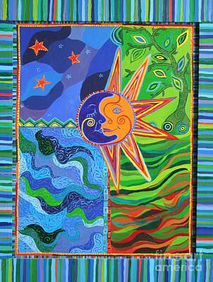 Oaxacan Painting - The Elements by Kelly Walston
