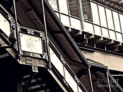 The Elevated Station At 125th Street 2 Print by Sarah Loft