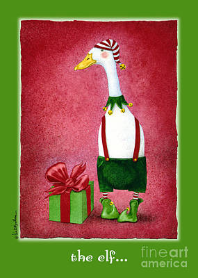 Ducks Painting - The Elf... by Will Bullas