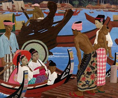The Embarkation 1920s Print by Ernest Procter