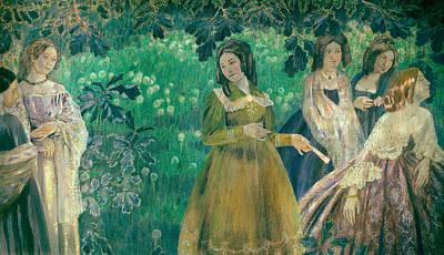 The Emerald Necklace Print by Viktor Borisov-Musatov