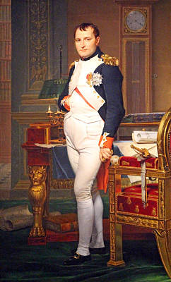 David Jacques Louis 1748-1825 Photograph - The Emperor Napoleon In His Study At The Tuileries By Jacques Louis David by Cora Wandel