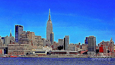 The Empire State Building And The New York Skyline 20130430 Print by Wingsdomain Art and Photography