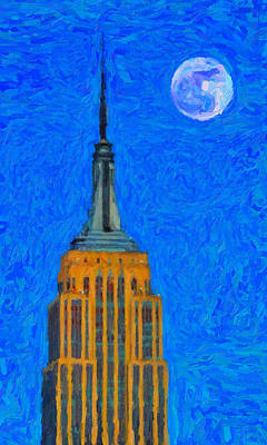 Empire State Building Painting - The Empire State Building by Celestial Images