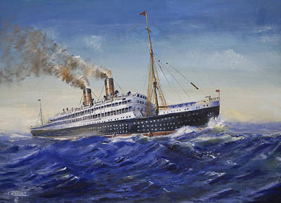 Steam Ships Painting - The Empress Of Ireland by Christopher Jenkins