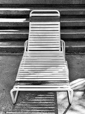 Lawn Chairs Photograph - The Empty Chaise Palm Springs by William Dey