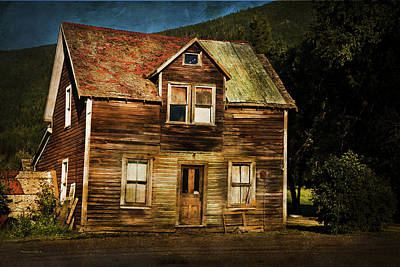 Old House Photograph - The Empty House by Theresa Tahara