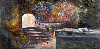 Lamb Of God Painting - The Empty Tomb by George Richardson