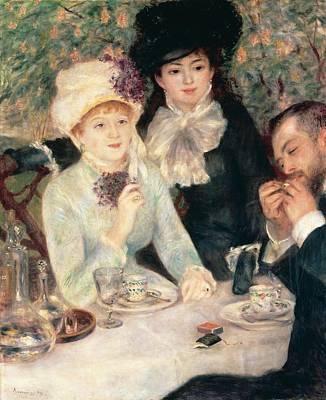 Meal Painting - The End Of Breakfast by Pierre Auguste Renoir
