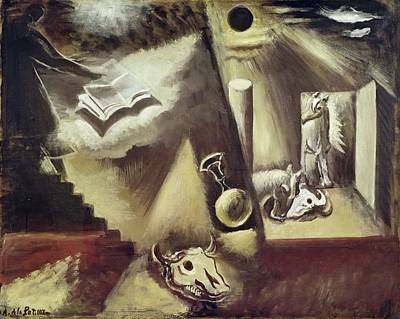 Skull Photograph - The End Of The World, C.1929 Oil On Canvas by Amedee de La Patelliere